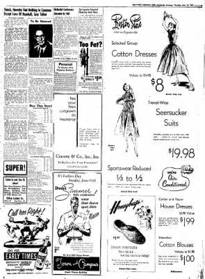 Northwest Arkansas Times from Fayetteville, Arkansas on June 12, 1952 · Page 3