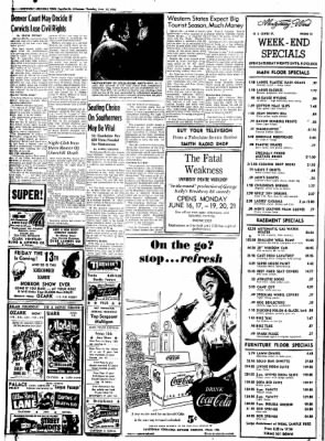 Northwest Arkansas Times from Fayetteville, Arkansas on June 12, 1952 · Page 16