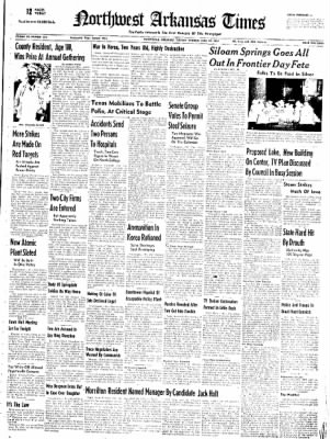 Northwest Arkansas Times from Fayetteville, Arkansas on June 24, 1952 · Page 1