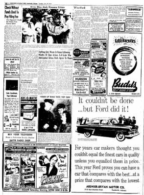 Northwest Arkansas Times from Fayetteville, Arkansas on June 24, 1952 · Page 12