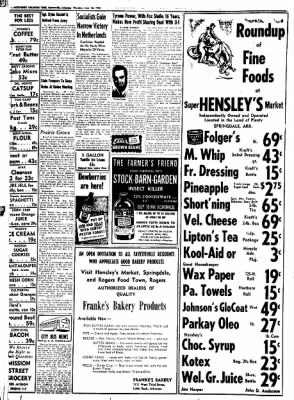 Northwest Arkansas Times from Fayetteville, Arkansas on June 26, 1952 · Page 8
