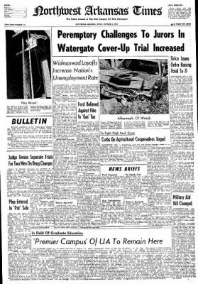 Northwest Arkansas Times from Fayetteville, Arkansas on October 4, 1974 · Page 1