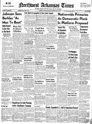 Northwest Arkansas Times from Fayetteville, Arkansas on July 14, 1952 · Page 1