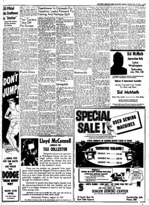 Northwest Arkansas Times from Fayetteville, Arkansas on July 15, 1952 · Page 7