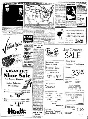 Northwest Arkansas Times from Fayetteville, Arkansas on July 16, 1952 · Page 3