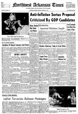 Northwest Arkansas Times from Fayetteville, Arkansas on October 10, 1974 · Page 1