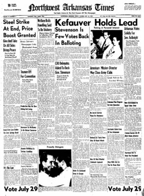 Northwest Arkansas Times from Fayetteville, Arkansas on July 25, 1952 · Page 1