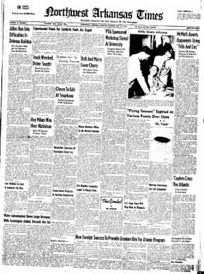 Northwest Arkansas Times from Fayetteville, Arkansas on July 31, 1952 · Page 1