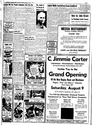 Northwest Arkansas Times from Fayetteville, Arkansas on August 7, 1952 · Page 16