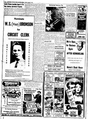 Northwest Arkansas Times from Fayetteville, Arkansas on August 9, 1952 · Page 12