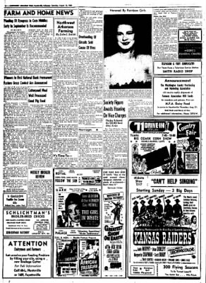 Northwest Arkansas Times from Fayetteville, Arkansas on August 16, 1952 · Page 10