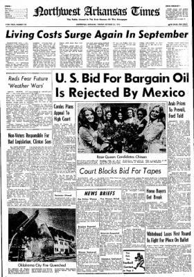 Northwest Arkansas Times from Fayetteville, Arkansas on October 22, 1974 · Page 1