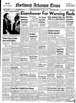 Northwest Arkansas Times from Fayetteville, Arkansas on August 25, 1952 · Page 1