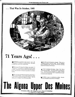 The Algona Upper Des Moines from Algona, Iowa on October 13, 1936 · Page 8