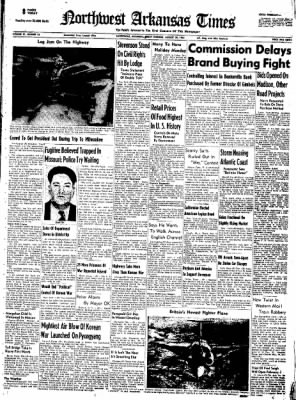 Northwest Arkansas Times from Fayetteville, Arkansas on August 29, 1952 · Page 1