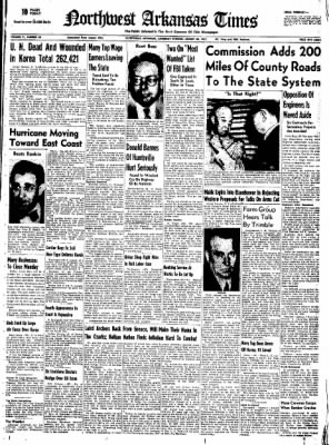 Northwest Arkansas Times from Fayetteville, Arkansas on August 30, 1952 · Page 1