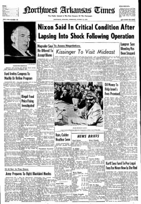 Northwest Arkansas Times from Fayetteville, Arkansas on October 30, 1974 · Page 1