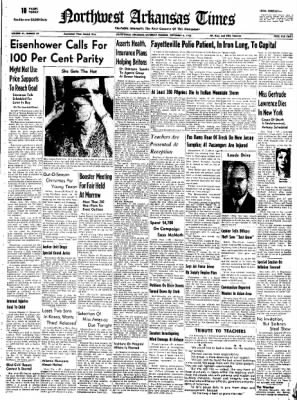 Northwest Arkansas Times from Fayetteville, Arkansas on September 6, 1952 · Page 1