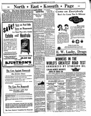 The Algona Upper Des Moines from Algona, Iowa on October 27, 1936 · Page 9
