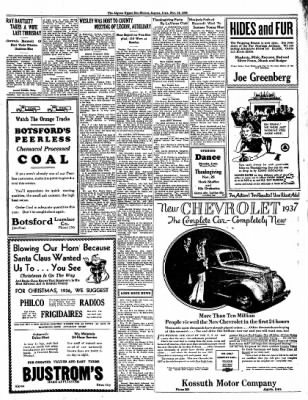 The Algona Upper Des Moines from Algona, Iowa on November 24, 1936 · Page 5