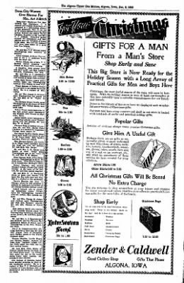The Algona Upper Des Moines from Algona, Iowa on December 8, 1936 · Page 22