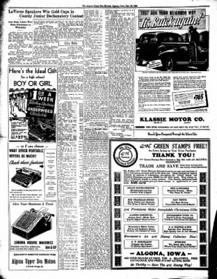 The Algona Upper Des Moines from Algona, Iowa on December 15, 1936 · Page 6