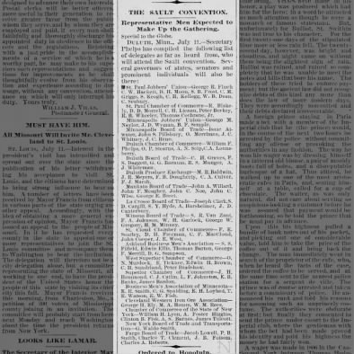 1887 Board to Attend Sault Convention