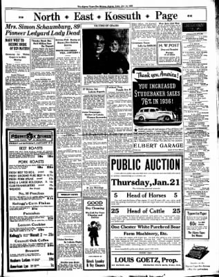 The Algona Upper Des Moines from Algona, Iowa on January 14, 1937 · Page 7