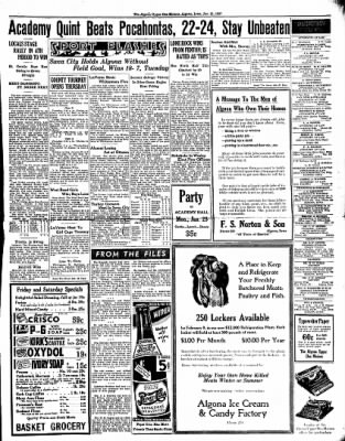 The Algona Upper Des Moines from Algona, Iowa on January 21, 1937 · Page 7