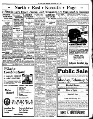The Algona Upper Des Moines from Algona, Iowa on February 4, 1937 · Page 7