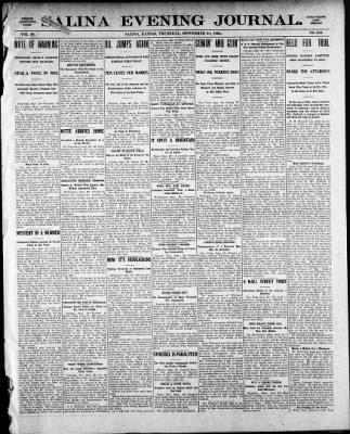 The Salina Evening Journal From Kansas On September 28 1905 Page 1