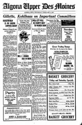 The Algona Upper Des Moines from Algona, Iowa on February 4, 1937 · Page 10