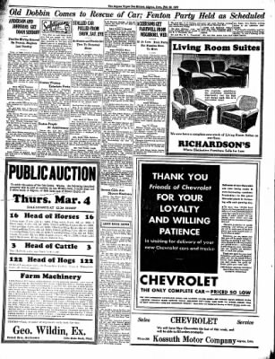 The Algona Upper Des Moines from Algona, Iowa on February 25, 1937 · Page 6