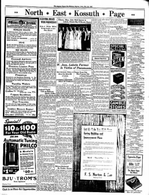 The Algona Upper Des Moines from Algona, Iowa on February 25, 1937 · Page 7