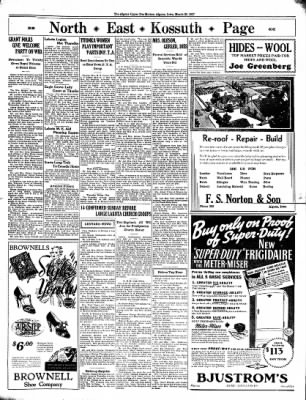 The Algona Upper Des Moines from Algona, Iowa on March 25, 1937 · Page 9