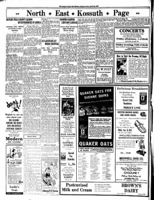 The Algona Upper Des Moines from Algona, Iowa on April 22, 1937 · Page 8