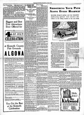 The Algona Upper Des Moines from Algona, Iowa on July 2, 1930 · Page 5