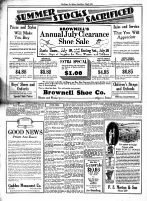 The Algona Upper Des Moines from Algona, Iowa on July 9, 1930 · Page 4