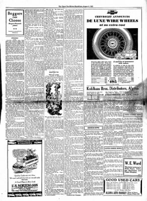The Algona Upper Des Moines from Algona, Iowa on August 6, 1930 · Page 9