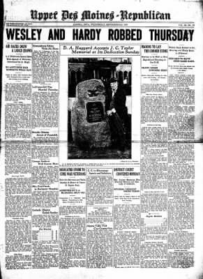 The Algona Upper Des Moines from Algona, Iowa on September 24, 1930 · Page 1