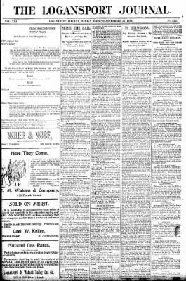 Logansport Pharos-Tribune from Logansport, Indiana on September 27, 1896 · Page 1
