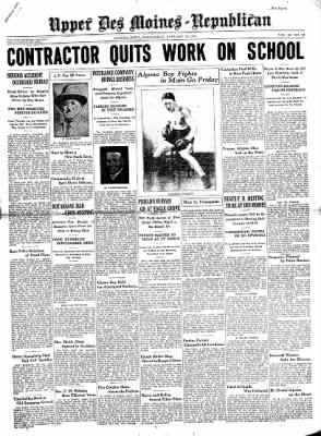 The Algona Upper Des Moines from Algona, Iowa on January 14, 1931 · Page 1