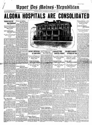The Algona Upper Des Moines from Algona, Iowa on February 4, 1931 · Page 1