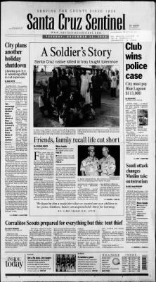 Santa Cruz Sentinel from Santa Cruz, California on November 11, 2003 · Page 1
