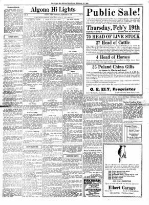 The Algona Upper Des Moines from Algona, Iowa on February 11, 1931 · Page 10