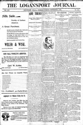 Logansport Pharos-Tribune from Logansport, Indiana on September 3, 1896 · Page 1