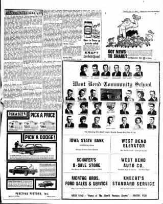 The Algona Upper Des Moines from Algona, Iowa on May 15, 1962 · Page 19