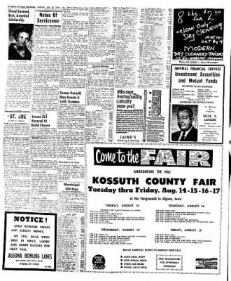 The Algona Upper Des Moines from Algona, Iowa on July 24, 1962 · Page 6