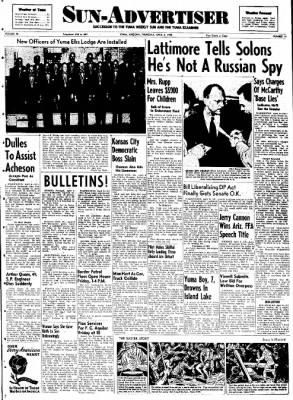 Sun-Advertiser from Yuma, Arizona on April 6, 1950 · Page 1