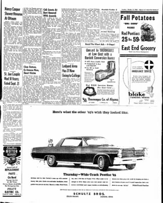 The Algona Upper Des Moines from Algona, Iowa on October 2, 1962 · Page 15